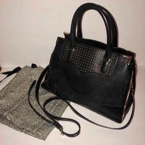 Rebecca Minkoff leather stud zip Satchel